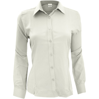 Textil Mulher camisas Henbury Wicking Branco