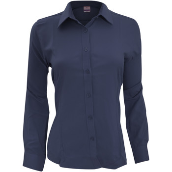 Textil Mulher camisas Henbury Wicking Marinha