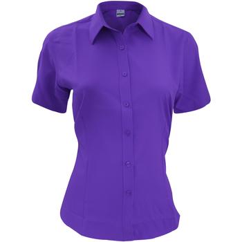 Textil Homem Camisas mangas curtas Henbury HB596 Púrpura