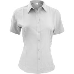Textil Homem Camisas mangas curtas Henbury HB596 Branco