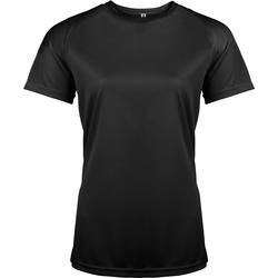 Textil Mulher T-Shirt mangas curtas Kariban Proact PA439 Preto