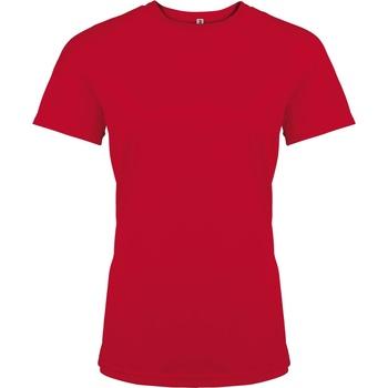 Textil Mulher T-Shirt mangas curtas Kariban Proact PA439 Vermelho