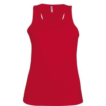 Textil Mulher Tops sem mangas Kariban Proact Proact Vermelho