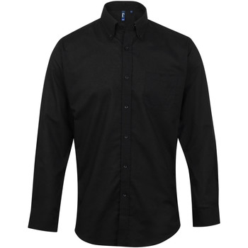 Textil Homem Camisas mangas comprida Premier PR234 Preto