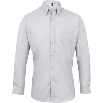 Textil Homem Camisas mangas comprida Premier PR234 Prata