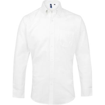 Textil Homem Camisas mangas comprida Premier PR234 Branco