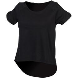 Textil Mulher T-Shirt mangas curtas Skinni Fit SK233 Preto