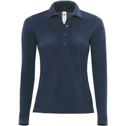 Textil Mulher Polos mangas compridas B And C B370L Marinha