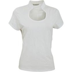 Textil Mulher T-Shirt mangas curtas Kustom Kit KK755 Branco
