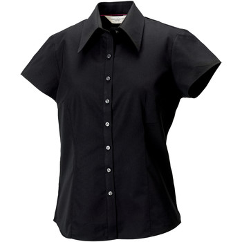 Textil Mulher camisas Russell J955F Preto