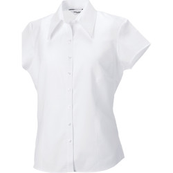Textil Mulher camisas Russell J955F Branco