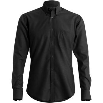 Textil Homem Camisas mangas comprida Kustom Kit KK184 Preto