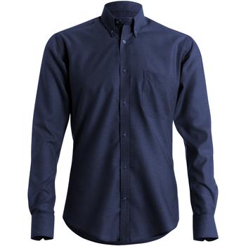 Textil Homem Camisas mangas comprida Kustom Kit KK184 Marinha
