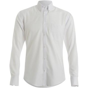 Textil Homem Camisas mangas comprida Kustom Kit KK184 Branco