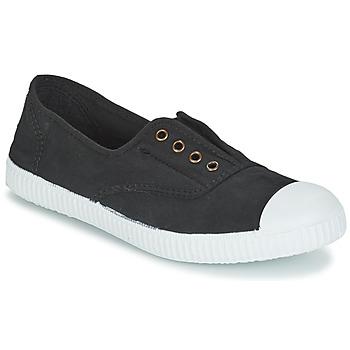 Sapatos Sapatilhas Victoria INGLESA ELASTICO TINTADA Preto