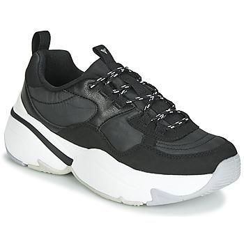 Sapatos Mulher Sapatilhas Victoria AIRE NYLON/SERRAJE PU Preto