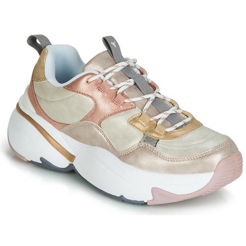 Sapatos Mulher Sapatilhas Victoria AIRE METALICO NACAR Bege