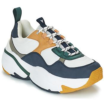 Sapatos Mulher Sapatilhas Victoria SNEAKER MALLA/MULTIMATERIAL Branco / Marinho