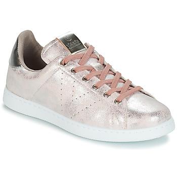 Sapatos Mulher Sapatilhas Victoria TENIS METALIZADO Rosa