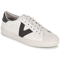 Sapatos Mulher Sapatilhas Victoria BERLIN PIEL CONTRASTE Branco / Cinza