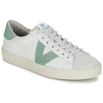 Sapatos Homem Sapatilhas Victoria BERLIN PIEL CONTRASTE Branco / Verde