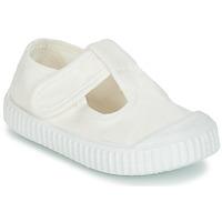 Sapatos Criança Sabrinas Victoria SANDALIA LONA TINTADA Branco