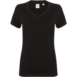 Textil Mulher T-Shirt mangas curtas Skinni Fit SK122 Preto