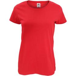 Textil Mulher T-Shirt mangas curtas Fruit Of The Loom 61420 Vermelho