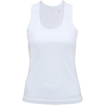 Textil Mulher Tops sem mangas Tridri TR023 Branco
