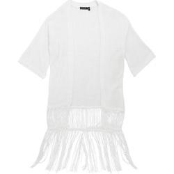 Textil Mulher Casacos de malha Brave Soul Kimono Branco
