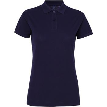 Textil Mulher Polos mangas curta Asquith & Fox AQ025 Marinha