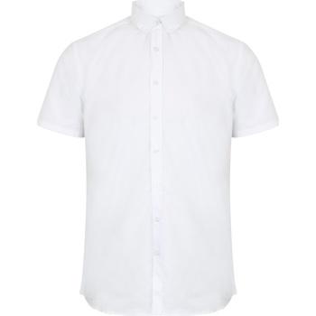 Textil Homem Camisas mangas curtas Henbury HB517 Branco