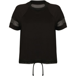 Textil Mulher T-Shirt mangas curtas Tombo TL526 Preto