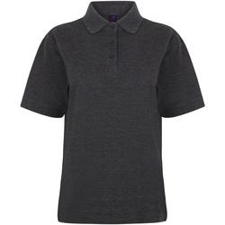 Textil Mulher Polos mangas curta Henbury HB401 Carvão vegetal