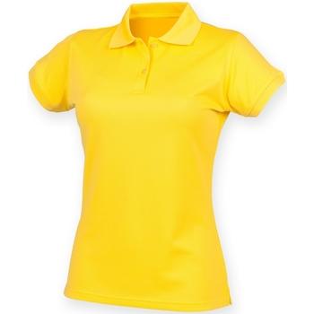 Textil Mulher Polos mangas curta Henbury Coolplus Amarelo