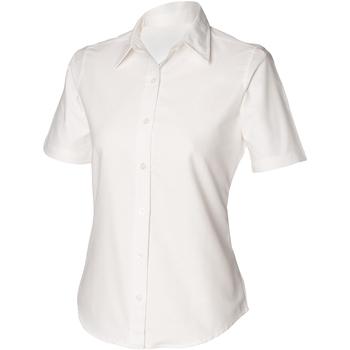 Textil Mulher camisas Henbury HB516 Branco