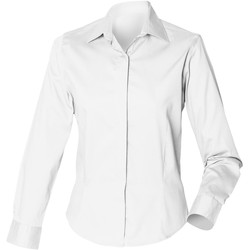 Textil Mulher camisas Henbury HB551 Branco