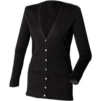 Textil Mulher Casacos de malha Henbury Fine Knit Preto