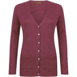 Textil Mulher Casacos de malha Henbury Fine Knit Borgonha