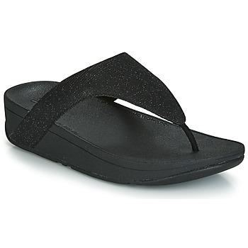 Sapatos Mulher Chinelos FitFlop LOTTIE GLITZY Preto