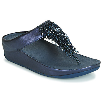 Sapatos Mulher Chinelos FitFlop RUMBA TOE THONG SANDALS Azul