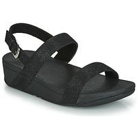 Sapatos Mulher Chinelos FitFlop LOTTIE GLITZY BACKSTRAP SANDAL Preto