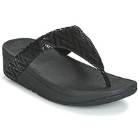 Sapatos Mulher Chinelos FitFlop LOTTIE CHEVRON SUEDE Preto