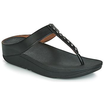 Sapatos Mulher Chinelos FitFlop FINO TREASURE Preto