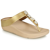 Sapatos Mulher Chinelos FitFlop FINO SHELLSTONE Ouro