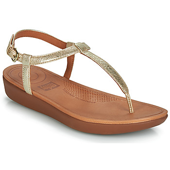 Sapatos Mulher Chinelos FitFlop TIA Ouro