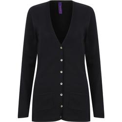 Textil Mulher Casacos de malha Henbury Fine Knit Marinha
