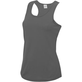 Textil Mulher Tops sem mangas Awdis JC015 Carvão vegetal