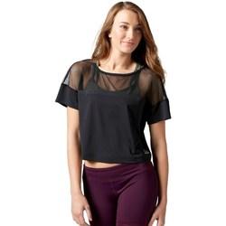 Textil Mulher T-Shirt mangas curtas Reebok Sport Cardio Fashion Top Preto