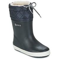 Sapatos Criança Botas de neve Aigle GIBOULEE Marinho / Branco